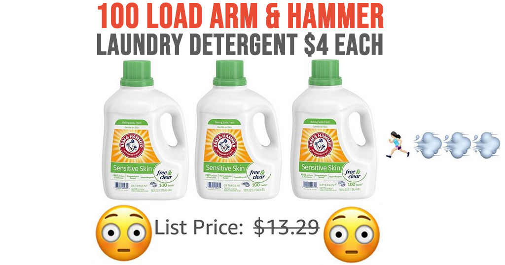 100 Load Arm & Hammer Laundry Detergent $4 Each on Amazon (Regularly $13.29)
