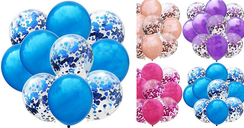 12 Inch Latex Sequins Confetti Balloons Only $2.99 Shipped on Amazon (Regularly $14.99)