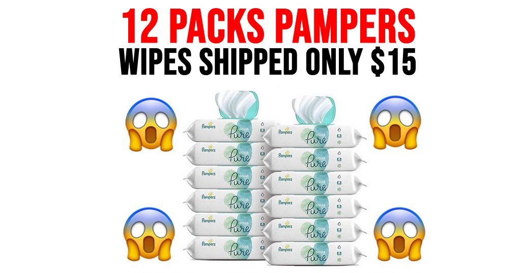 12 Packs Pampers Wipes Only $15 Shipped on Amazon (Regularly $29.94)