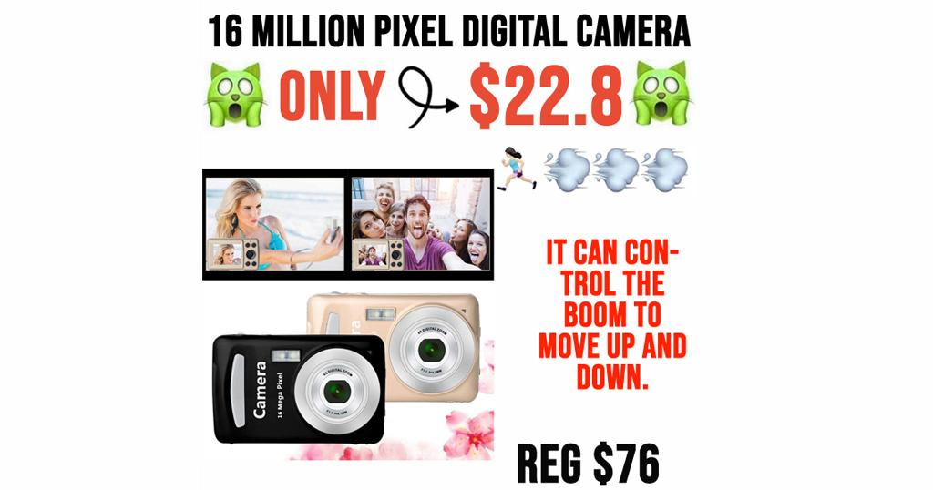 16 Million Pixel Digital Camera Only $22.8 Shipped on Amazon (Regularly $76)