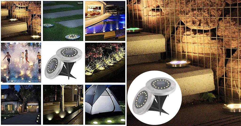 1PC Solar LEDs Underground Lights Only $9.35 Shipped on Amazon (Regularly $46.99)