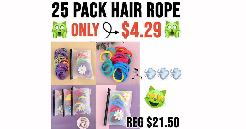 25 Pack Hair Rope Only $4.29 Shipped on Amazon (Regularly $21.50)