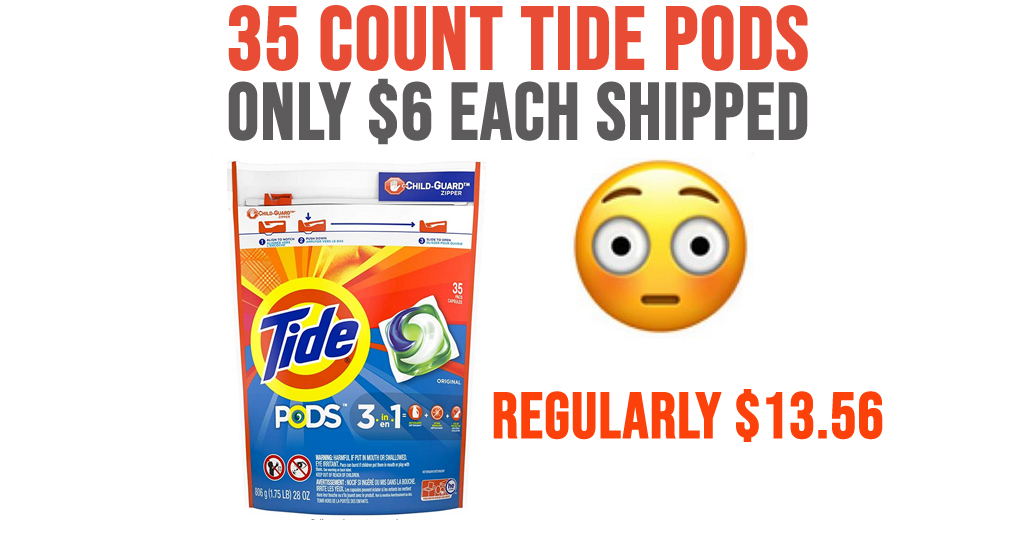 35 Count Tide Pods Only $6 Each Shipped on Amazon (Regularly $13.56)