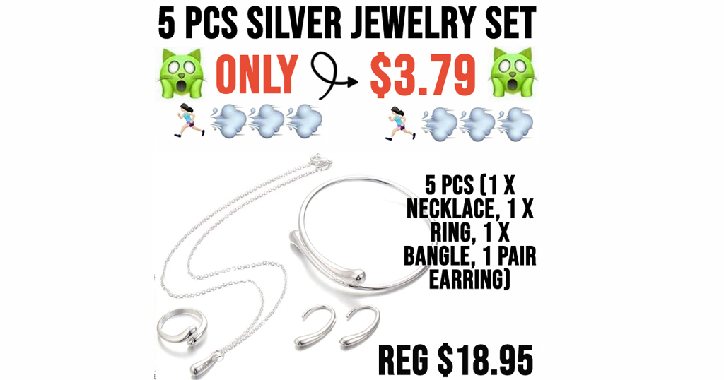 5 PCS Silver Jewelry Set Only $3.79 Shipped on Amazon (Regularly $18.95)