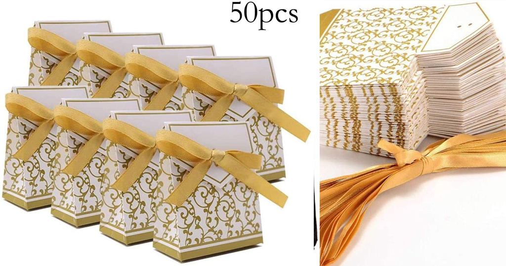 50PCS Candy Boxes with Gift Ribbons Only $15.99 Shipped on Amazon (Regularly $53.29)
