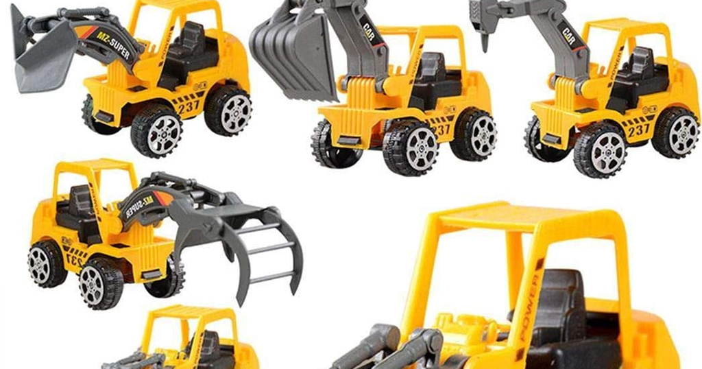 6 PCS Vehicle Truck Engineering Toy Only $7.99 Shipped on Amazon (Regularly $39.99)
