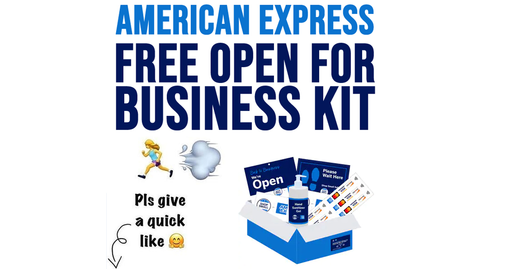 American Express Free 'Open For Business Kit'