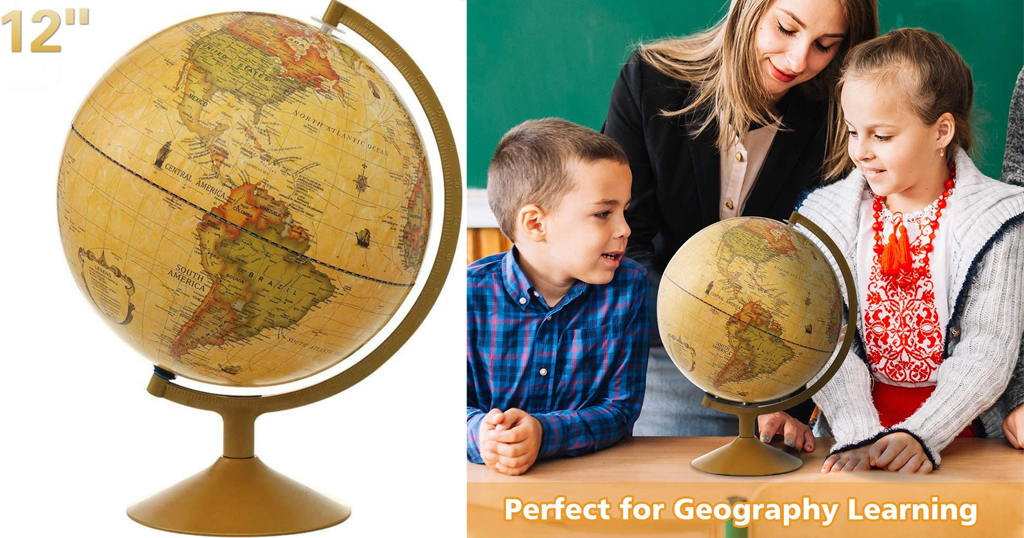 Antique Globe For Kids Only $30.79 Shipped on Amazon (Regularly $43.99)