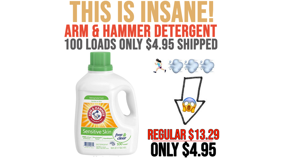 Arm & Hammer Liquid Laundry Detergent 100 Loads Only $4.95 Shipped on Amazon (Regularly $13.29)