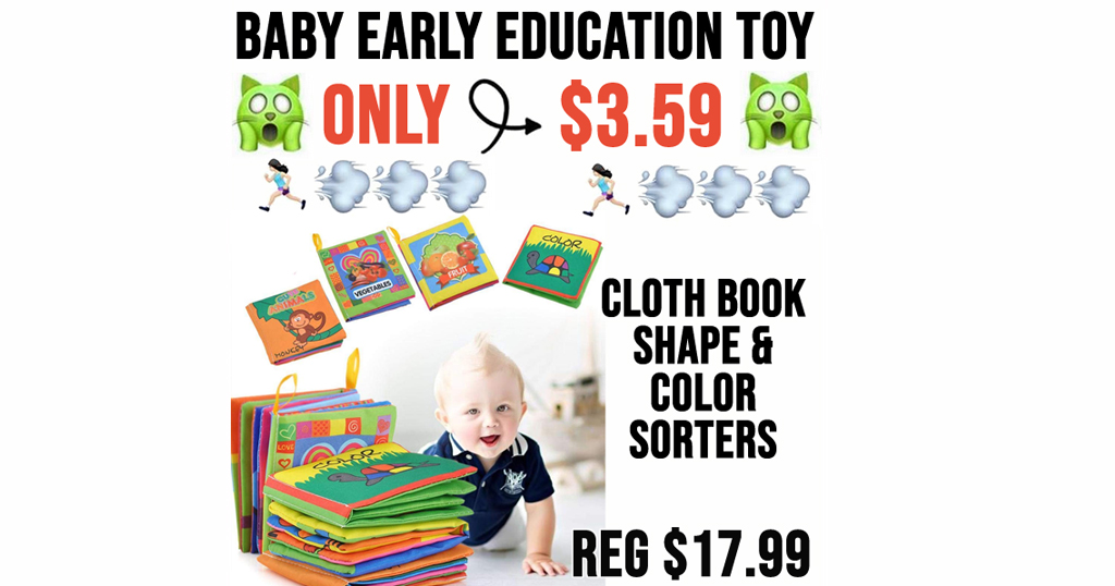 Baby Early Education Toy Only $3.59 Shipped on Amazon (Regularly $17.99)