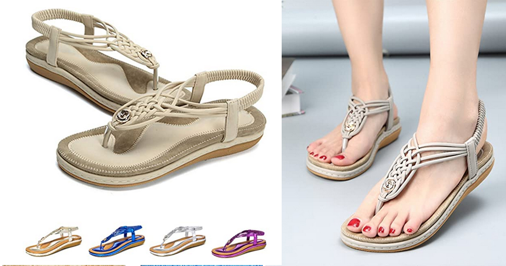 Beach Sandals for Women with Ankle Strap Elastic Only $17.39 Shipped on Amazon (Regularly $28.98)