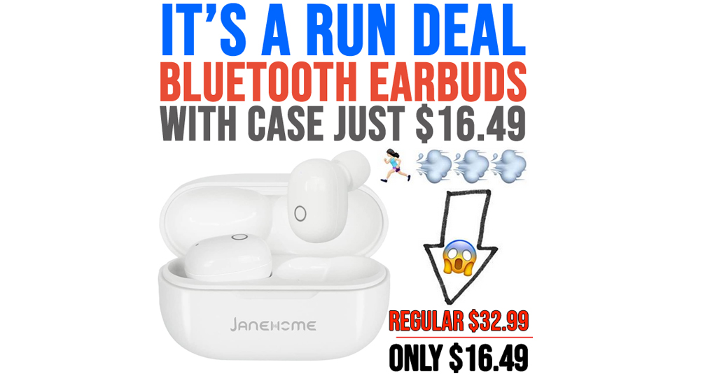 Bluetooth Earbuds With Case Only $16.49 Shipped on Amazon (Regularly $32.99)