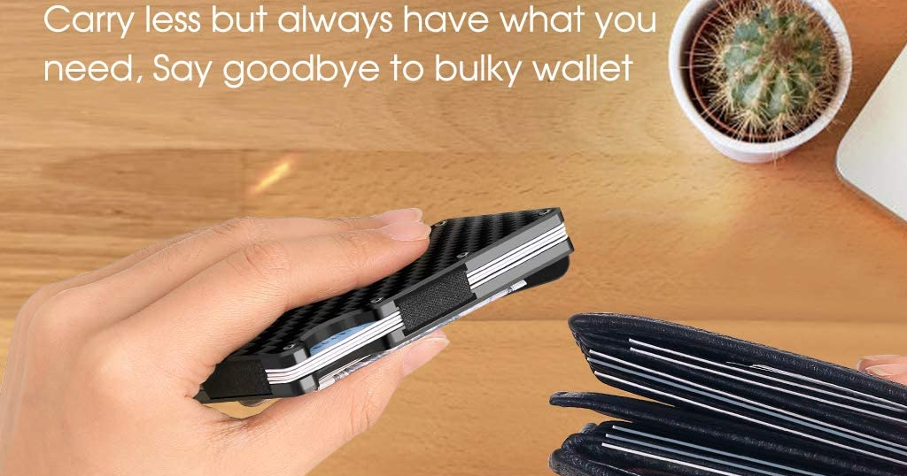 Carbon Fiber Minimalist Wallet for Men Only $6.99 Shipped on Amazon (Regularly $15.99)