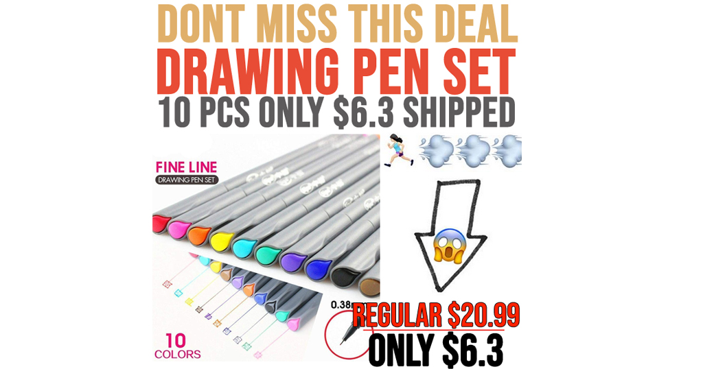 Drawing Pen Set - 10 PCS Only $6.3 Shipped on Amazon (Regularly $20.99)
