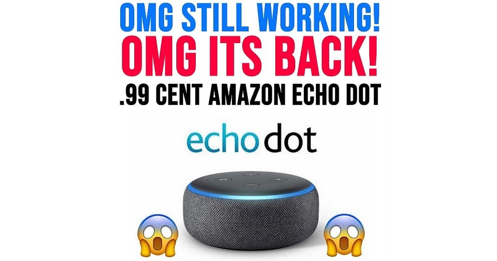 Echo Dot for Just 99¢ Shipped on Amazon
