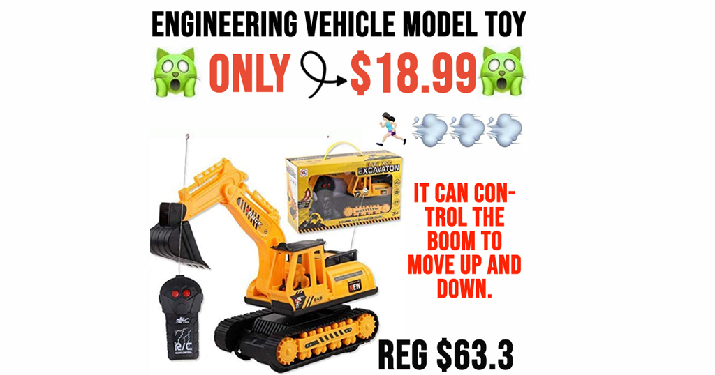 Engineering Vehicle Model Toy Only $18.99 Shipped on Amazon (Regularly $63.3)