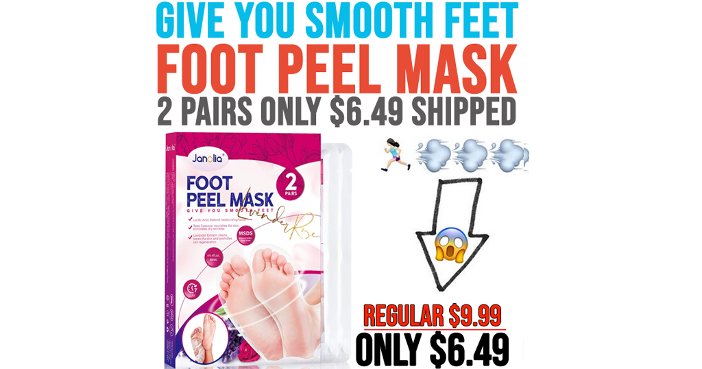 Foot Peel Mask - 2 Pairs Only $6.49 Shipped on Amazon (Regularly $9.99)
