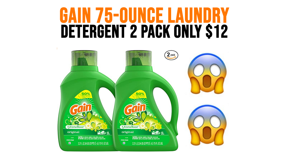 Gain 75-Ounce Laundry Detergent 2-Pack Only $12 Shipped on Amazon (Just 13¢ Per Load)