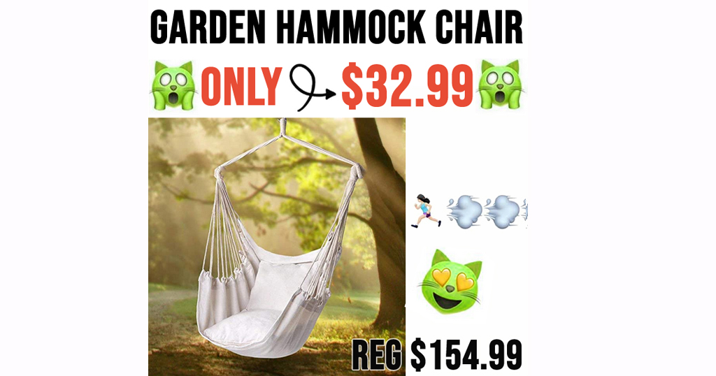 Garden Hammock Chair Only $32.99 Shipped on Amazon (Regularly $154.99)