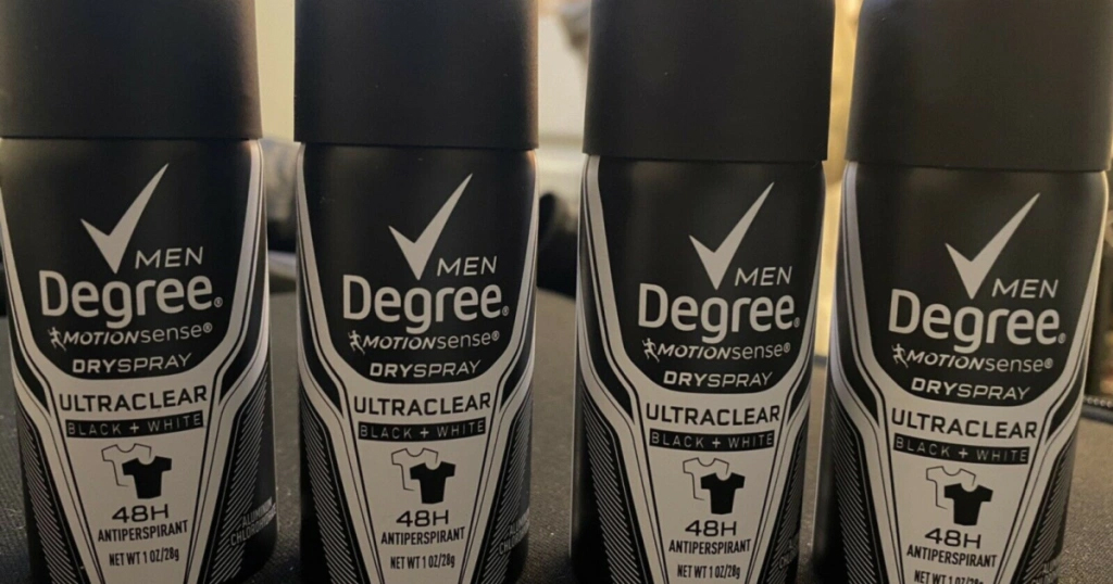 Get 2 FREE Degree Dry Spray Deodorant Samples