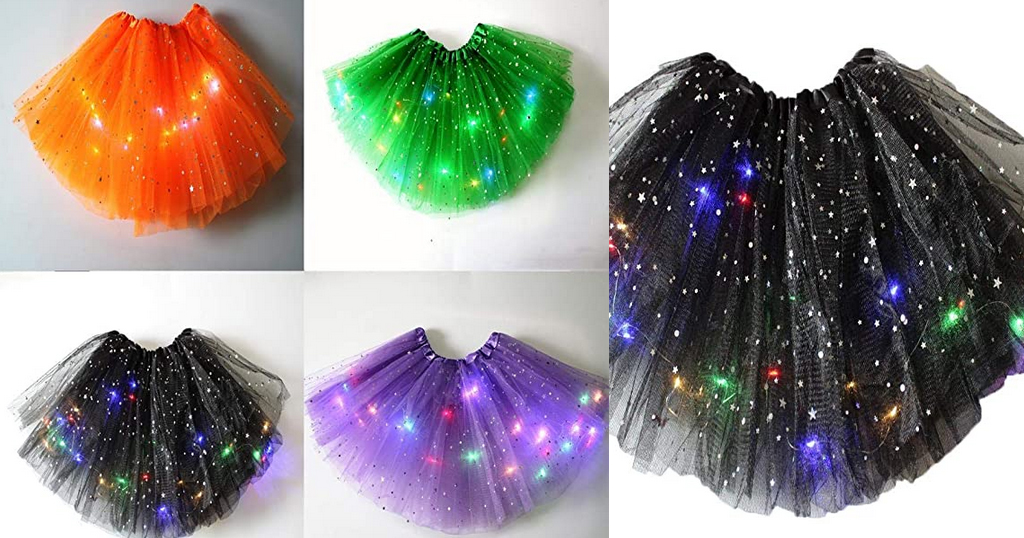 Girls 3-Layers LED Skirt Only $7.20 Shipped on Amazon (Regularly $35.99)
