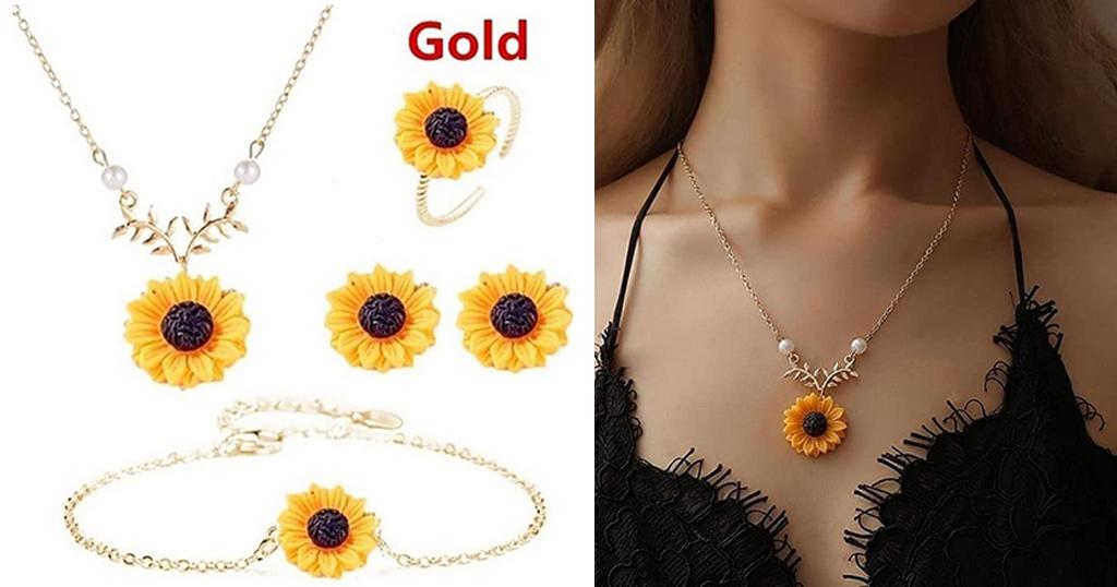 Girls Sunflower Jewelry Set Only $3.39 Shipped on Amazon (Regularly $16.98)