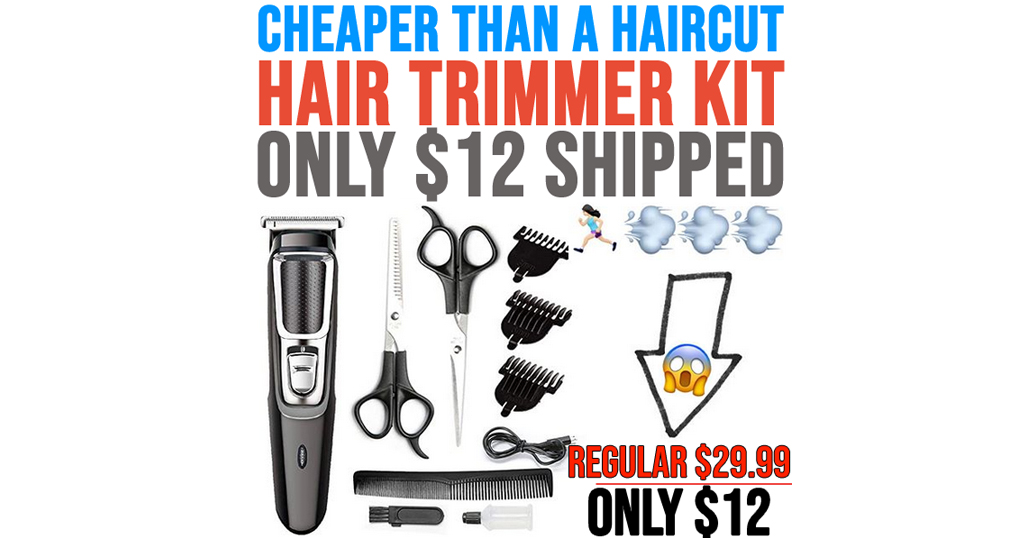 Haircut Hair Trimmer Kit Only $12 Shipped on Amazon (Regularly $29.99)