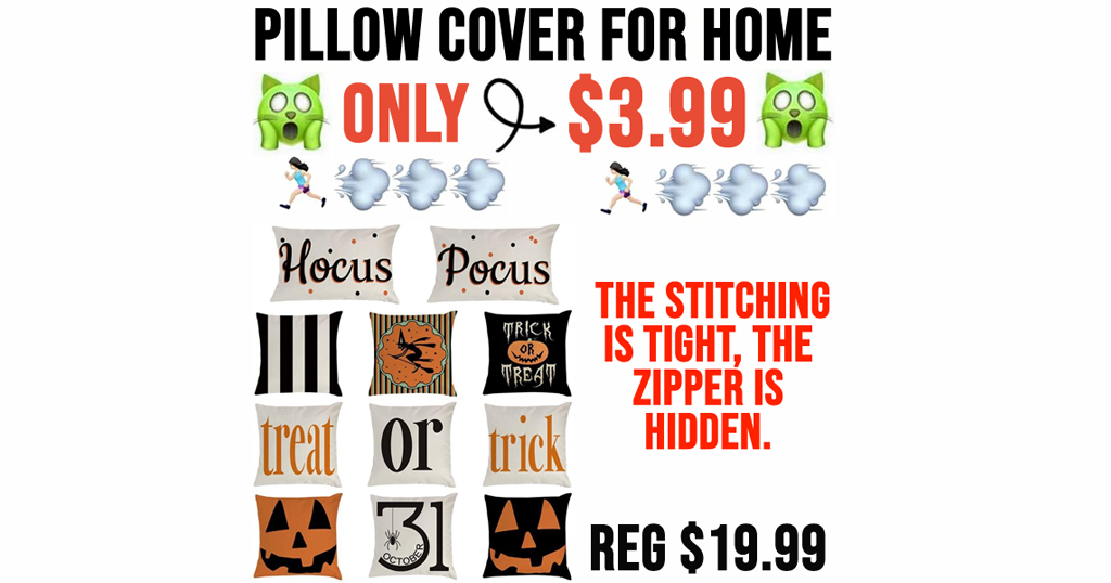 Pillow Cover for Home Only $3.99 Shipped on Amazon (Regularly $19.99)