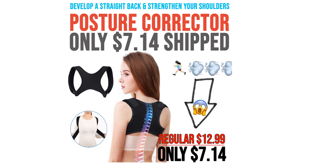 Posture Corrector For Men and Women Only $7.14 Shipped on Amazon (Regularly $12.99)