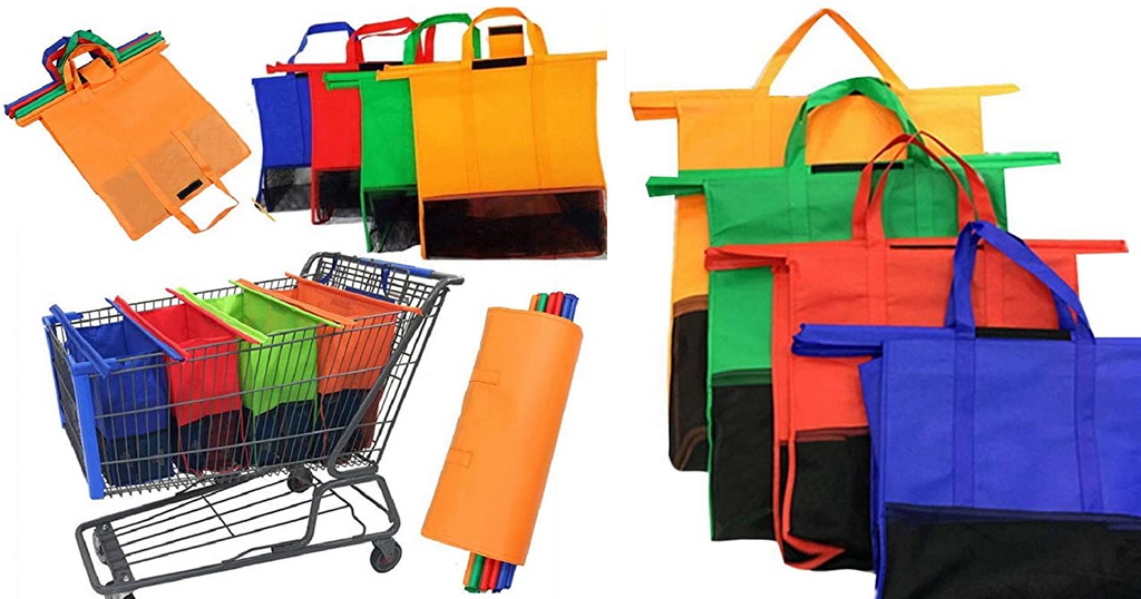 Reusable Large Capacity Foldable Solid Supermarket Handbag Only $11.29 Shipped on Amazon (Regularly $56.45)