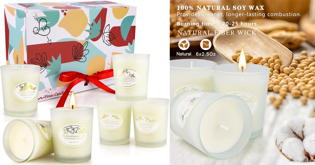 Scented Candles Gifts for Women - Pack of 6 Only $13.49 Shipped on Amazon (Regularly $29.99)