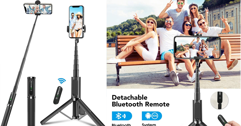 Selfie Stick with Wireless Remote and Tripod Only $18.89 Shipped on Amazon (Regularly $26.99)