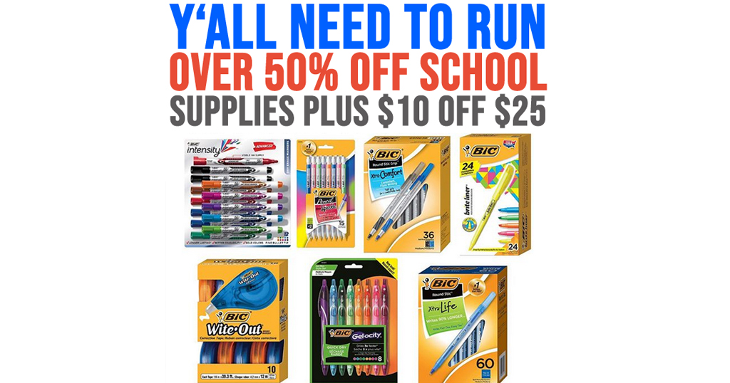 Spend $25 and Save $10 on BIC products on Amazon