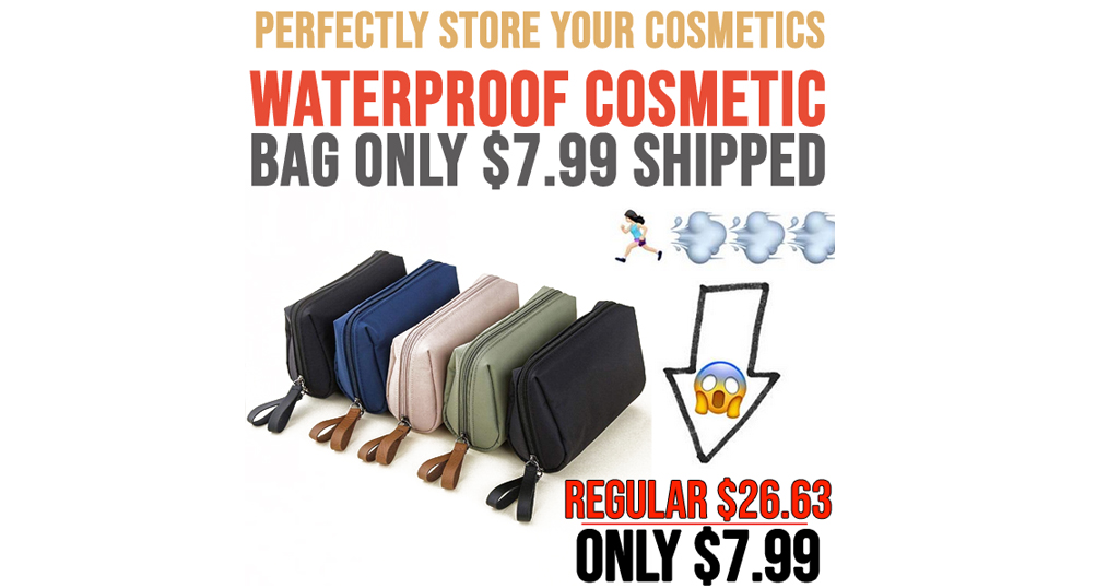 Waterproof Cosmetic Bag Only $7.99 Shipped on Amazon (Regularly $26.63)