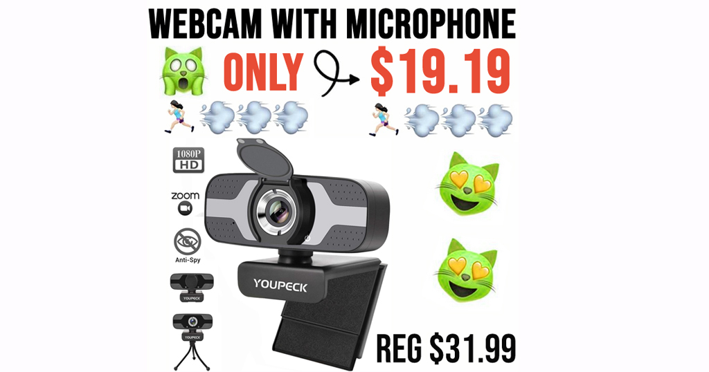 Webcam with Microphone Only $19.19 Shipped on Amazon (Regularly $31.99)