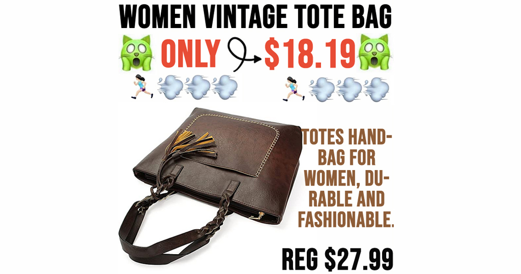 Women Vintage Tote Bag Only $18.19 Shipped on Amazon (Regularly $27.99)