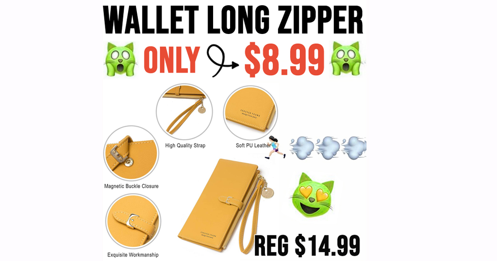 Women's Wallet Long Zipper Purse Only $8.99 Shipped on Amazon (Regularly $14.99)