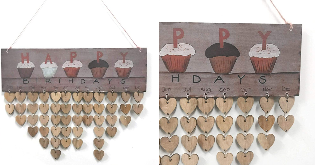 Wooden Birthday Calendar Floating Shelves Only $9.3 Shipped on Amazon (Regularly $30.99)