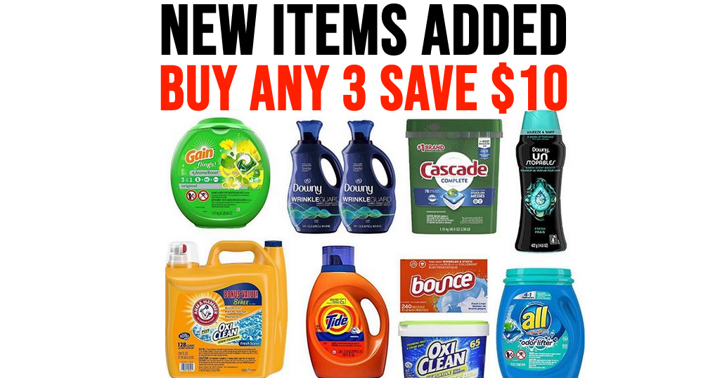 $10 Off 3 Household Items on Amazon | Save on Persil, Tide & More