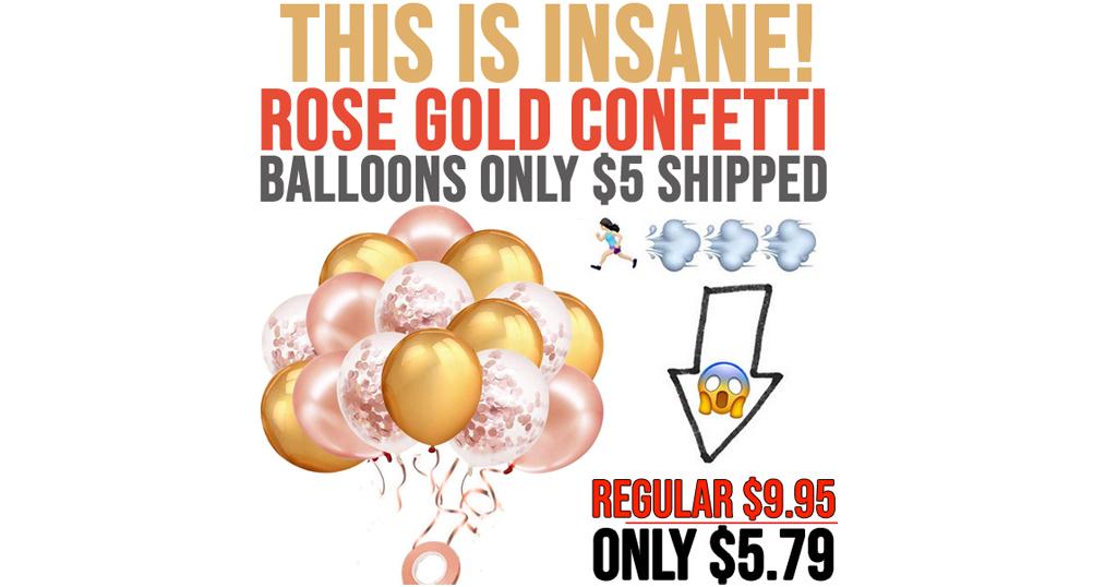 rose gold Confetti Balloons