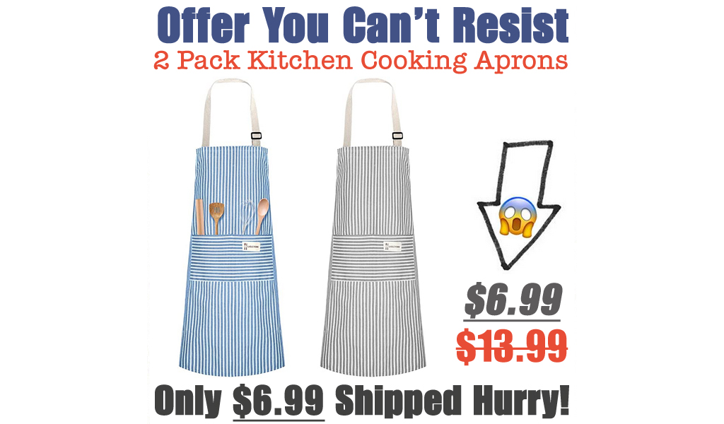 2 Pack Kitchen Cooking Aprons Just $6.99 Shipped on Amazon (Regularly $13.99)