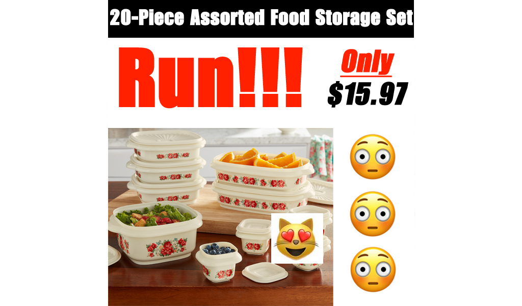 20-Piece Assorted Food Storage Set Only $15.97 Shipped on Walmart