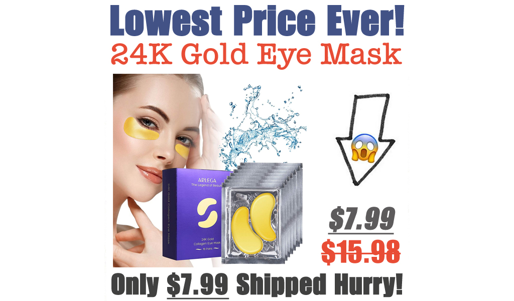 24K Gold Eye Mask Only $7.99 Shipped (Regularly $15.98)