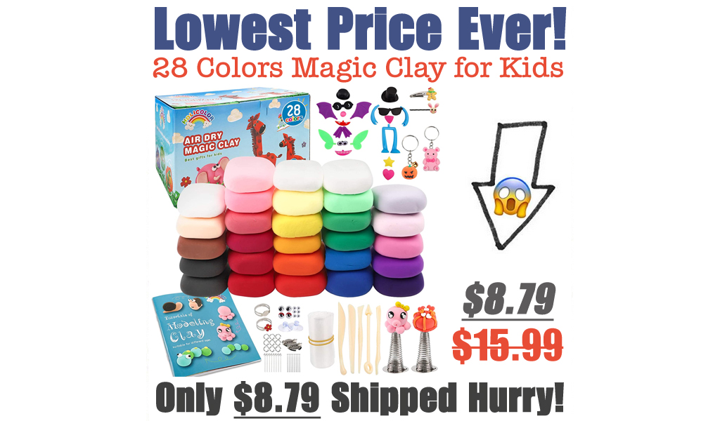28 Colors Magic Clay for Kids Just $8.79 Shipped on Amazon (Regularly $15.99)