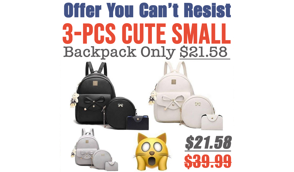 3-PCS Cute Small Backpack Only $21.58 Shipped on Amazon (Regularly $39.99)