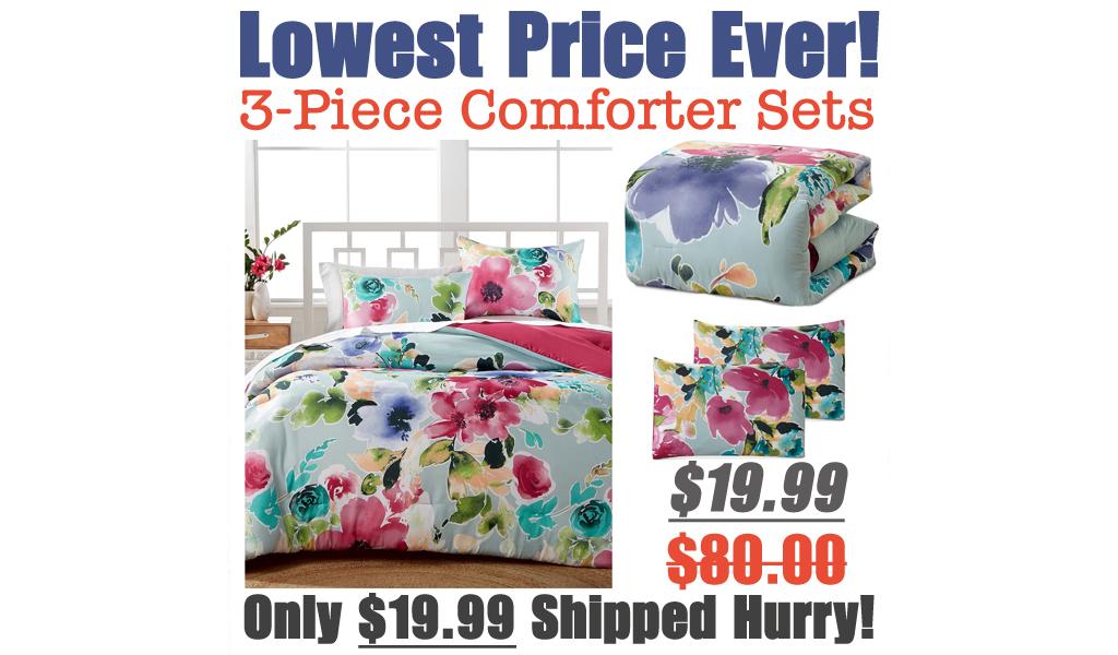 3-Piece Comforter Sets Just $19.99 on Macys.com (Regularly $80)