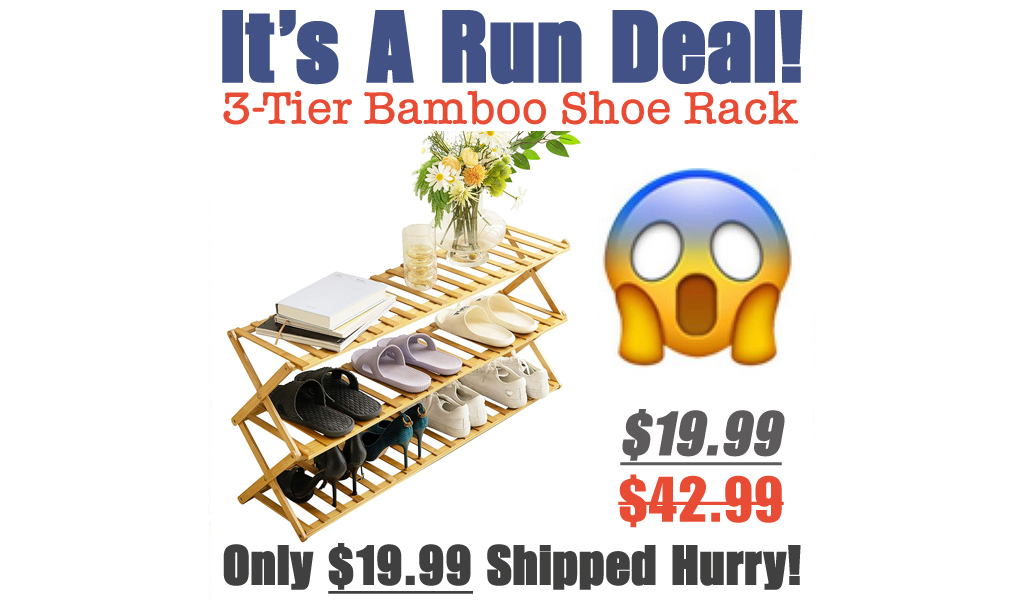 3-Tier Bamboo Shoe Rack Only $19.99 Shipped on Amazon (Regularly $42.99)