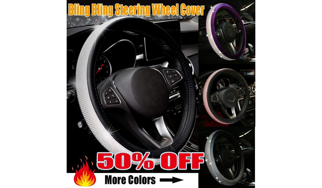 50% Off Bling Bling Steering Wheel Cover +Free Shipping!