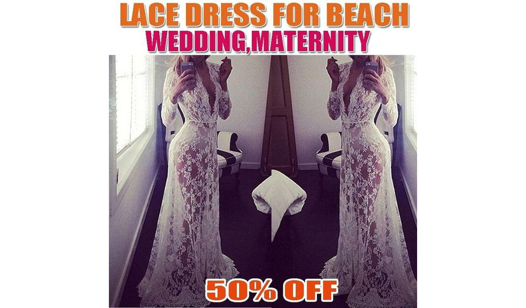 50% off Lace Dress For Beach,Wedding,Maternity+Free Shipping!