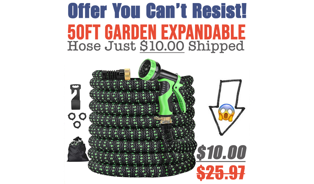50ft Garden Expandable Hose Just $10.00 Shipped on Amazon (Regularly $25.97)